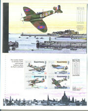 Guernsey-Battle of Britain Booklet mnh inc 5 diff panes-Aviation-World War II