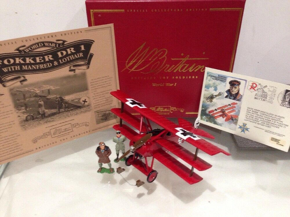 Britain rot Baron Fokker DR 1 WW1 Fighter Triplane With Manfrot Door Richthofen