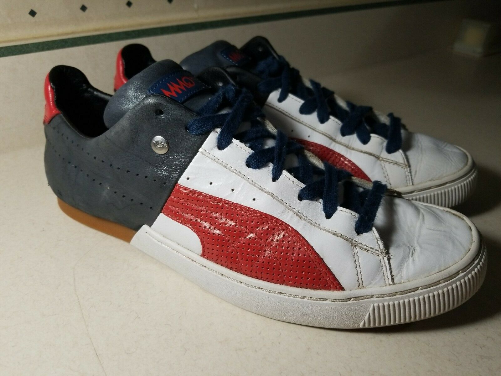 Blue Mens Trainers MMQ Trainers Size