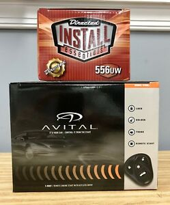 Avital 4105L Remote Starter,Keyles<wbr/>s Entry &amp; 556UW Bypass Module Bundle Two items