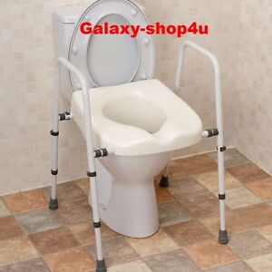 Mobility Toilet Seat Frame Support Disability Disabled Aid