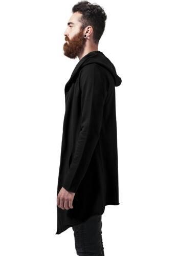URBAN CLASSICS Maglia Cardigan Giacca uomo Long Hooded Open Edge Cardigan TB1389