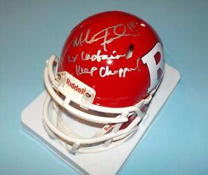 NJ Rutgers Mike Teel Signed Autographed Mini Helmet 2X Captain Keep Choppin COA