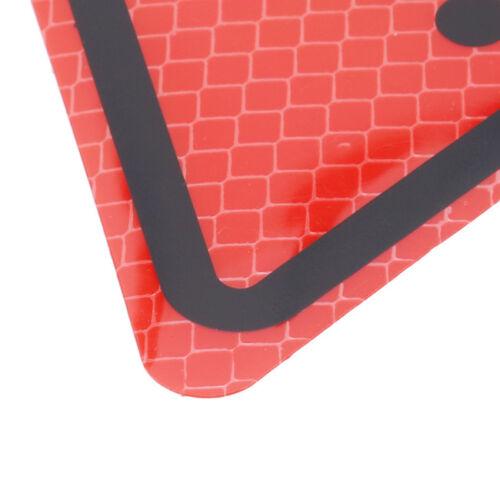 Warning Triangle Emergency Breakdown Reflective Road Sign Car Decal Sticker IT