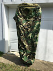 OLD GEN BDU WOODLAND CAMO BUTTONS GORETEX BIVY COVER FOR SLEEPING SYSTEM USED