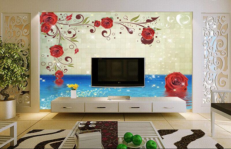 3D bluees Wasser, pinkn 186 Fototapeten Wandbild Fototapete BildTapete FamilieDE