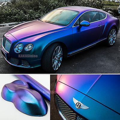 Matte Blue Car >> Car Pearl Metal Satin Matte Chameleon Chrome Vinyl Wrap Sticker Purple Blue Cf Ebay