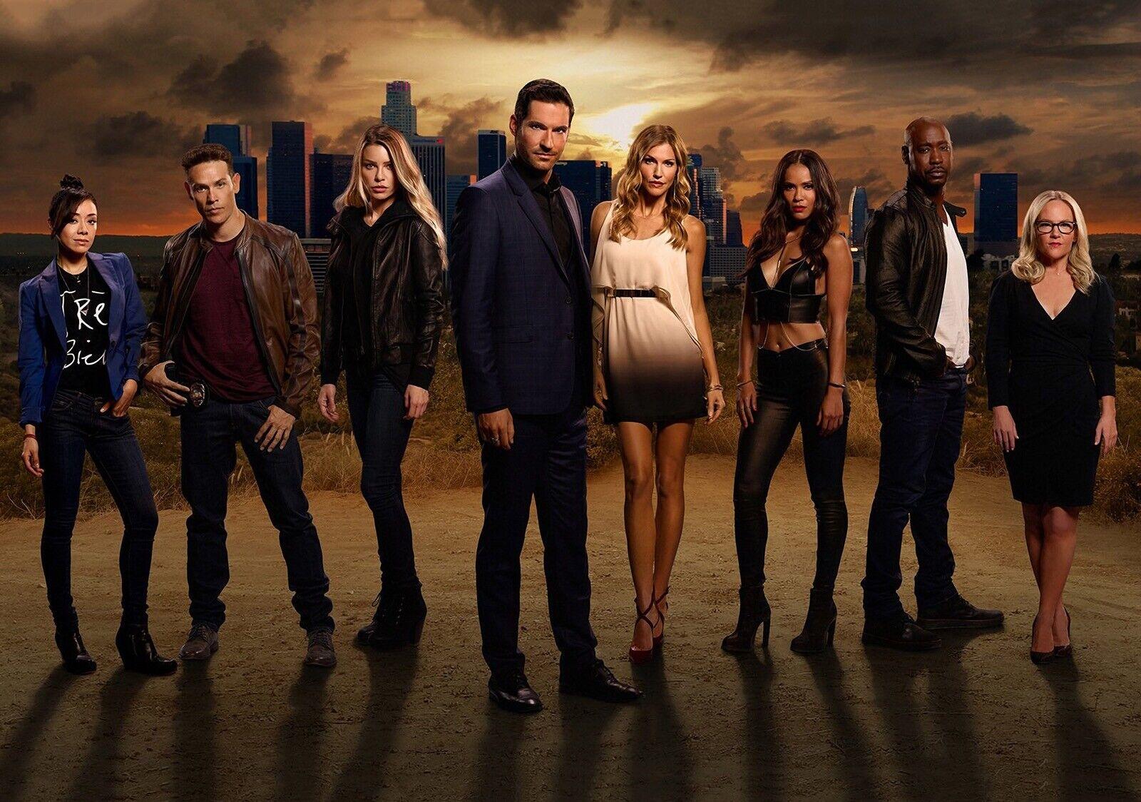 Lucifer Tv Series Cast A4 Photo Print