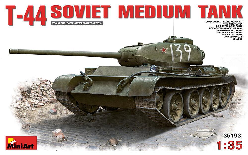 Miniart 1 35 T-44 sovietico Carro Armato Medio Medio Medio  35193 @ 103bc7