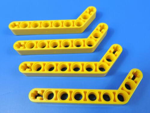 LEGO® technic Nr- 4544005 /  3x7 gelbe  Winkel Lochstangen - Liftarm / 4 Stück