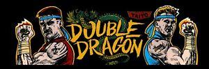 "Double Dragon dédié Arcade MARQUEE – 23.5"" X 8"""