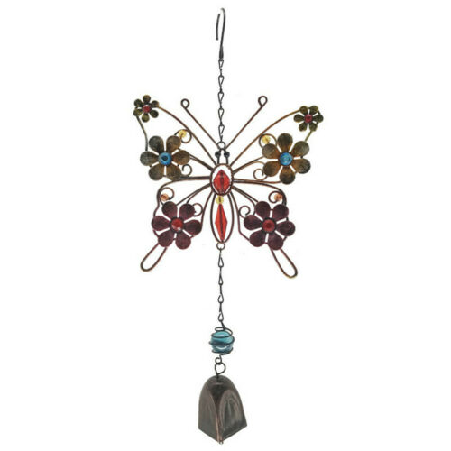 Metal Wind Chime Butterfly Wind Bells Garden Outdoor Hanging Decor