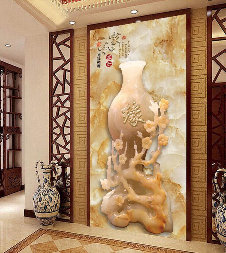 3D Mode Retro Vase 73 Tapete Wandgemälde Tapete Tapeten Bild Familie DE Summer