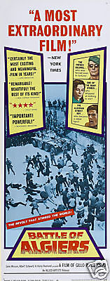 Battle of Algiers rare cult movie poster print