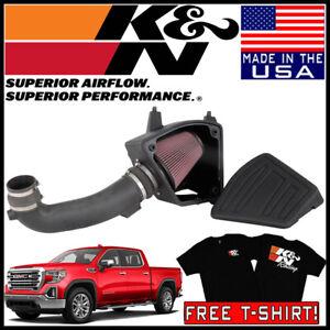 High Performance K/&N Cold Air Intake Kit 2019-2020 CHEVROLET Silverado 1500; 2019-2020 GMC Sierra 1500 63-3117 Guaranteed to Increase Horsepower