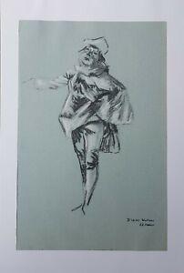 Lysiane-D-COSTE-drawing-on-paper-dessin-sur-papie-etude-Watteau-40-60cm-2001