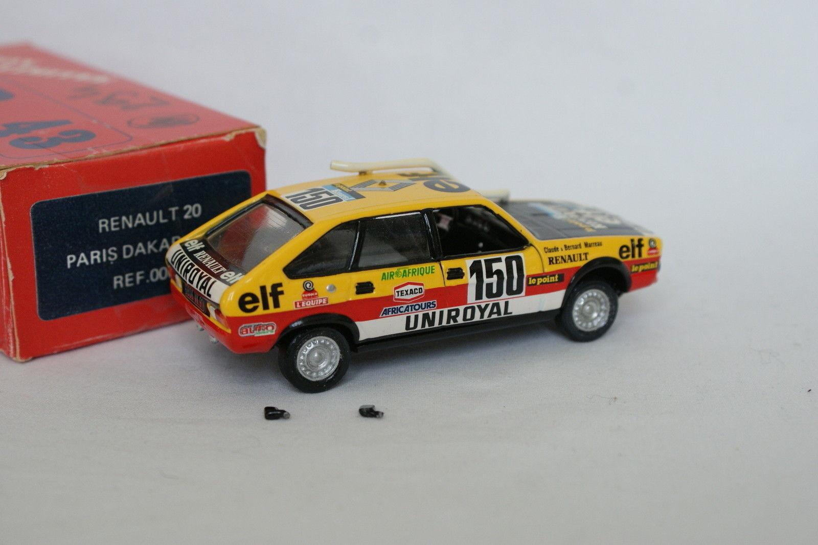 Top 43 Kit montado 1 43 - Renault 20 20 20 París Dakar 1982 Marreau fe1df0