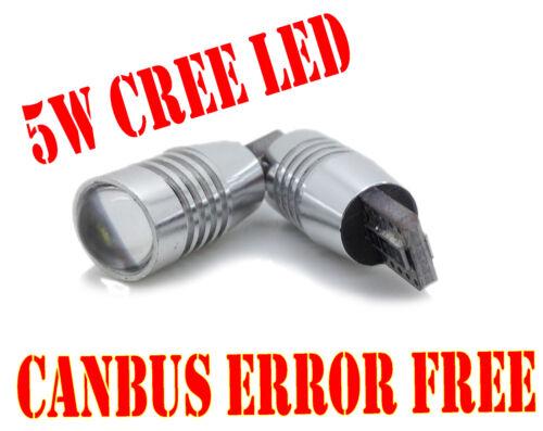 5W Cree LED Canbus Error Free 501 Sidelight Parking Bulbs Xenon White For Mini