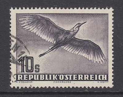 Reasonable Austria Sc C59 Used 1953 10s Grey Violet Grey Heron Fresh