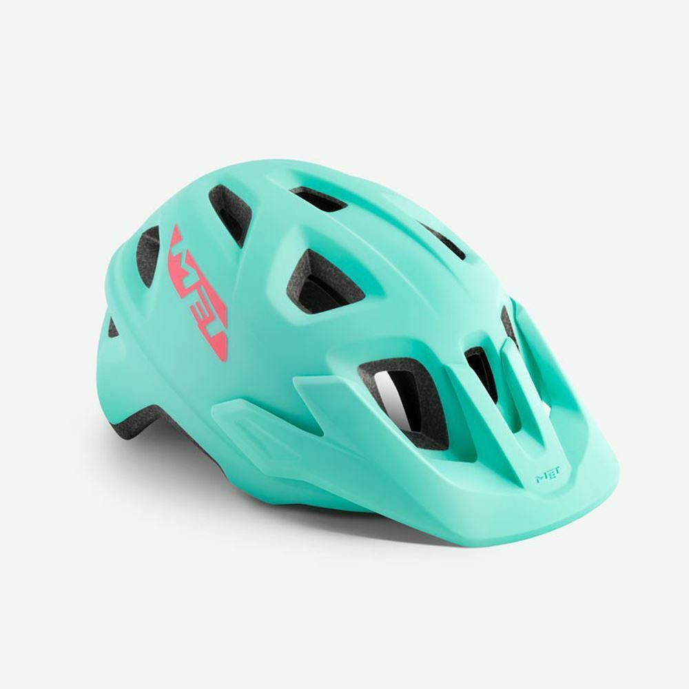 Mountain Bike Youth Cycle Helmet MET Eldar Baby bluee Matt UN 52 57 cm