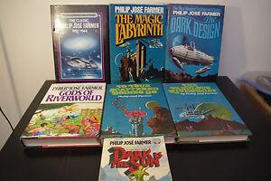 Philip-Jose-Farmer-Lot-Fabulous-Riverboat-7-Vintage-Sci-Fi-Books