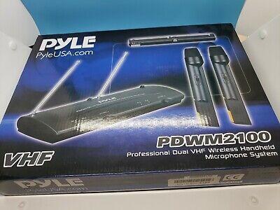 Pyle-Pro PDWM2100 Professional Dual VHF Wireless Handheld Microphone System