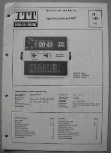ITT-Schaub-Lorenz-Synchrocompact-107-Service-Manual-R019