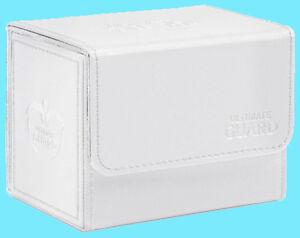 ULTIMATE-GUARD-XENOSKIN-WHITE-SIDEWINDER-80-DECK-CASE-Side-Loading-Card-Box-MTG