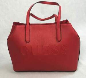 Authenic NEW NWT Guess Pressley Red Tote