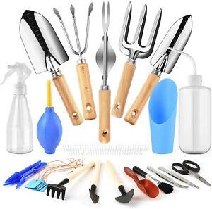 Lanlelin 21pcs Gardening Tools Set and Succulent Tools, Mini Garden Hand Tools T