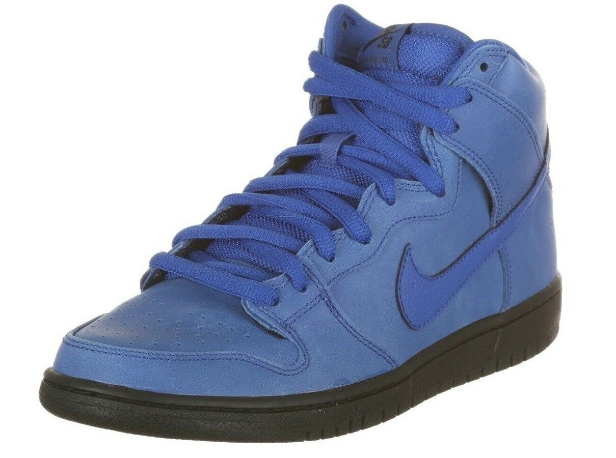 Nike DUNK HIGH PRO SB Game Royal Black Skate Discounted (207) Skate Men's Shoes