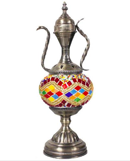 Hand Made Brand New Turkish Traditional Mosaic Glass Lamp