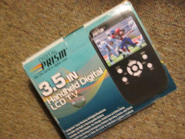 Digital Prism 3.5 In Handheld Portable Digital LCD TV rechargeable ATSC-301