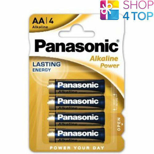 4 panasonic alkaline power AA lr06 Batteries Blister 1.5v mn1500 am3 e91 new
