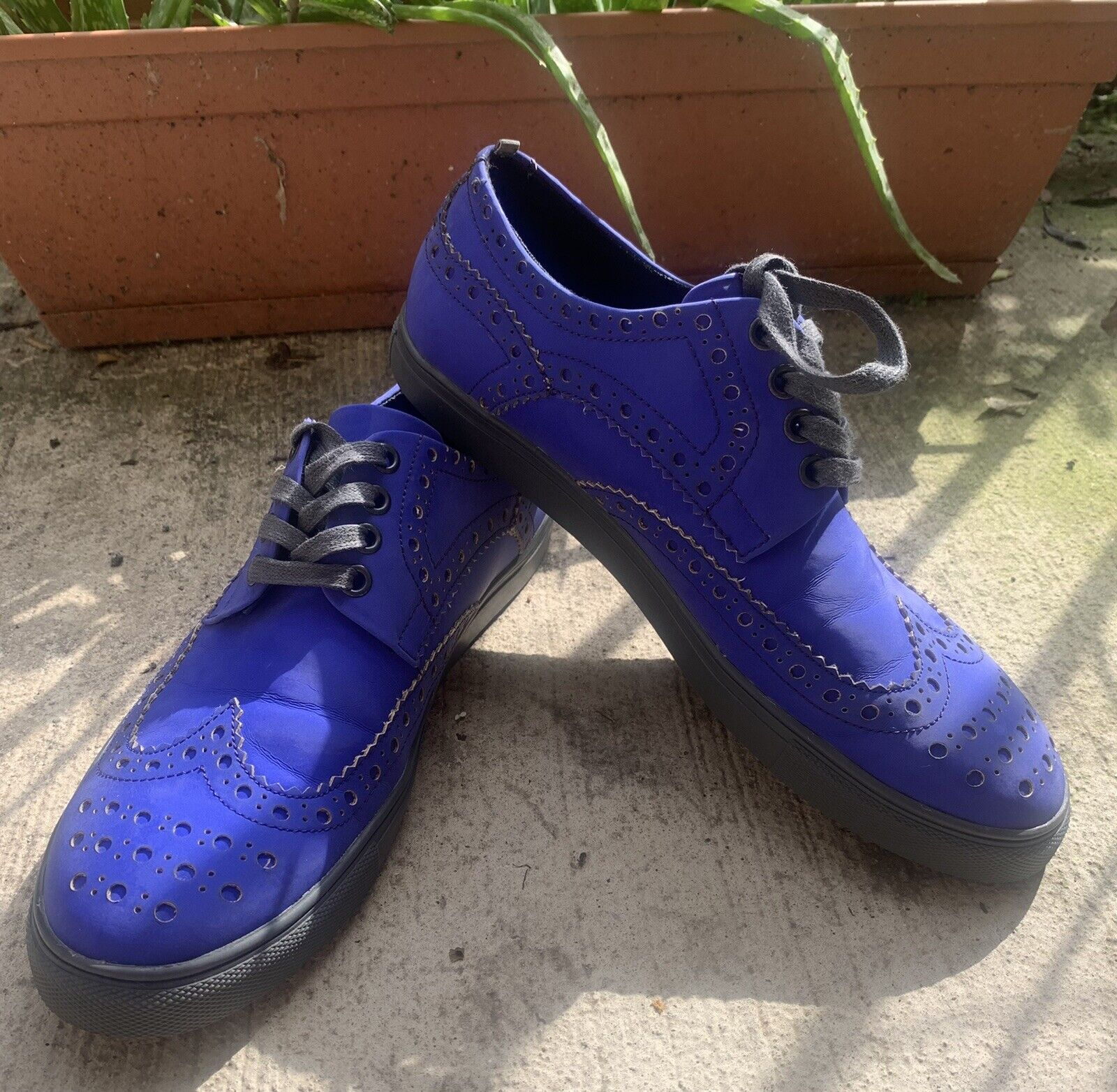 Kenneth Cole Reaction Collection Blue Oxford Sneaker Size 9 Mens
