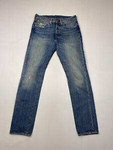 LEVI-039-S-501-CT-Fusele-Jeans-W31-L34-bleu-tres-bon-etat-Homme