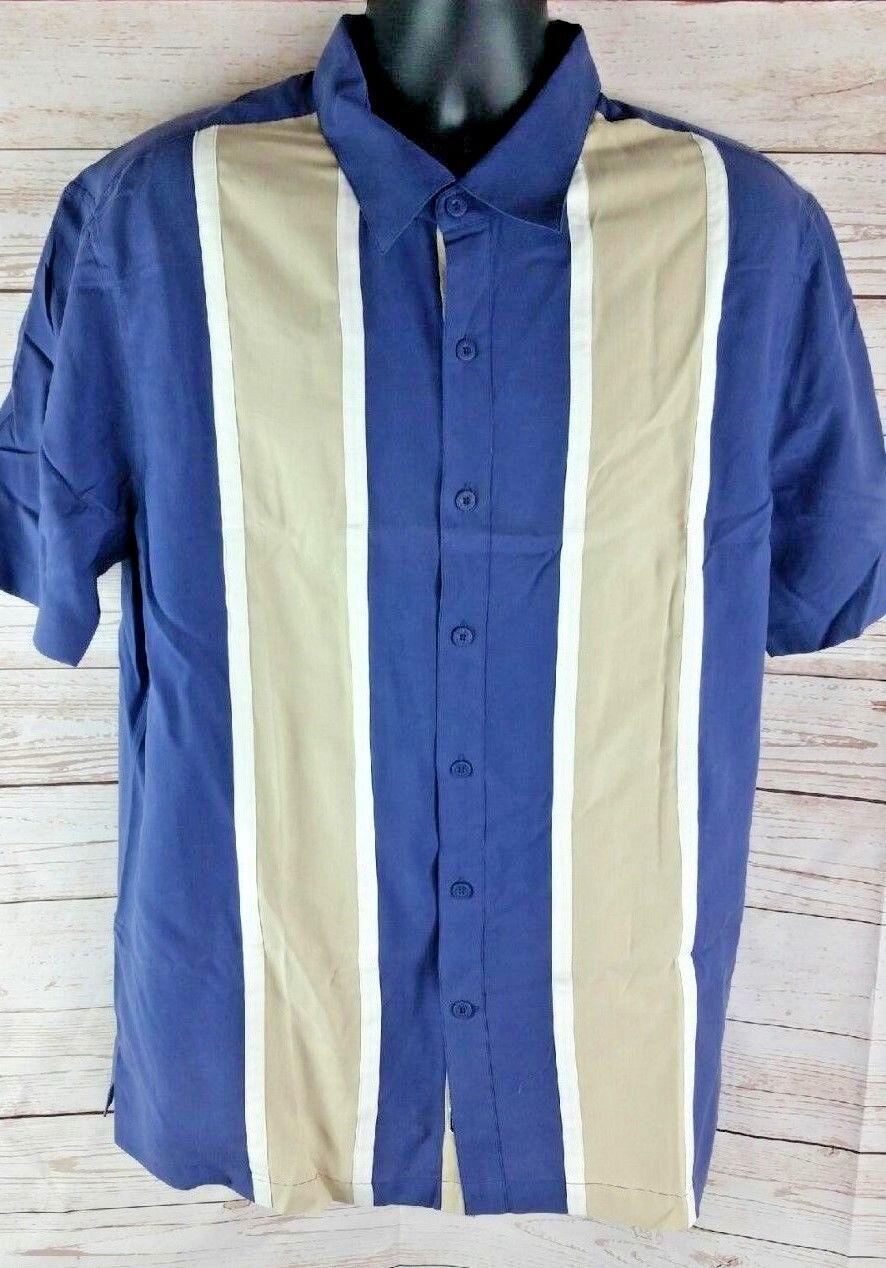 Vtg Herren Nat Nast L L L Blau Kombination Seide Melone Braunes Hemd Weiß | Feine Verarbeitung  348ee1