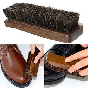Practical-Horse-Hair-fessional-Shoe-Shine-Boot-Polish-Buffing-Wooden-Brush-Hot