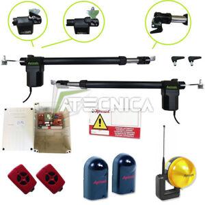 Cancello Elettrico A Due Ante.Kit Automazione Cancello Battente A 2 Ante 220v Motori Cancello