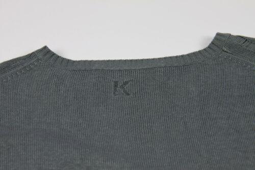 Suéter gris Lagerfeld distressed Karl ligero favwxq