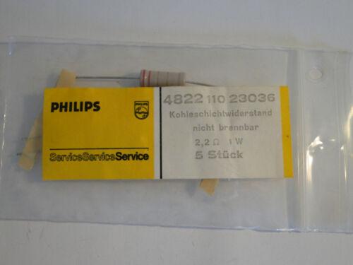 NOS f Röhrenverstärker 10x Kohleschicht Widerstand von Philips 2.2 Ohm // 1 W