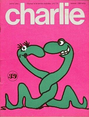 "100% Kwaliteit ""charlie N°39 / Avril 1972"" Johnny Hart : B.c."