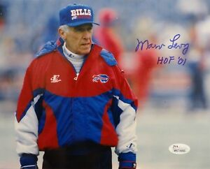 Marv-Levy-Autographed-8x10-Buffalo-Bills-Glaring-Photo-With-HOF-JSA-W-Auth