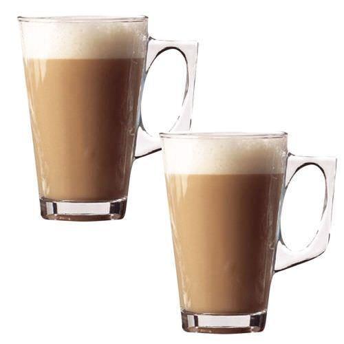 6x240ml Glass Cups Mugs for Coffee Tea Latte Cappucino /&Spoon high quality glass
