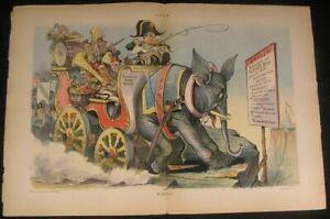 President-McKinley-Bandwagon-Negative-Impact-1896-antique-color-lithograph-print