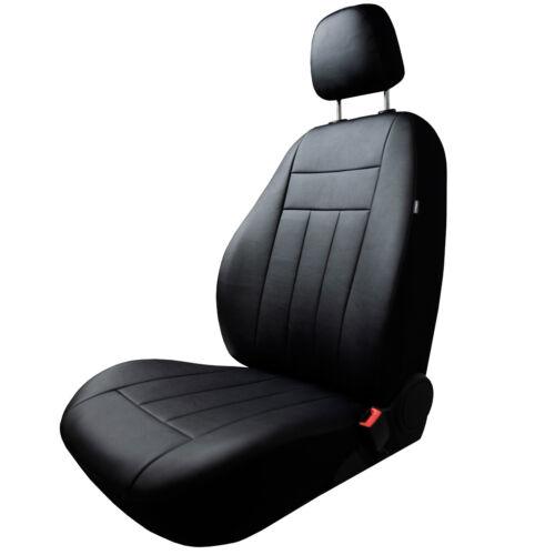 Toyota Aygo I 2005-2008 Maßgefertigte Kunstleder Sitzbezüge in Schwarz