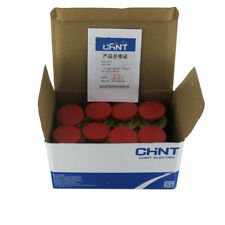 10pcsbox New Chnt Red Emergency Stop Mushroom Button Switch Lay3 11zs 1 1no1nc