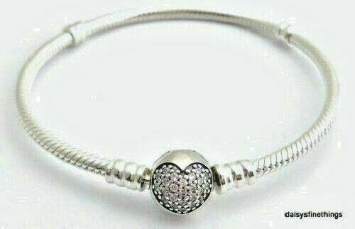 Pandora 590743cz 23 Sparkling Heart Bracelet Silver For Sale Online Ebay