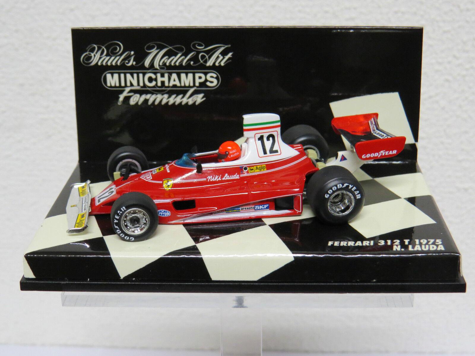 mejor moda Ferrari 312 T 1975 N. N. N. Lauda Minichamps Nr. 430750012  popular