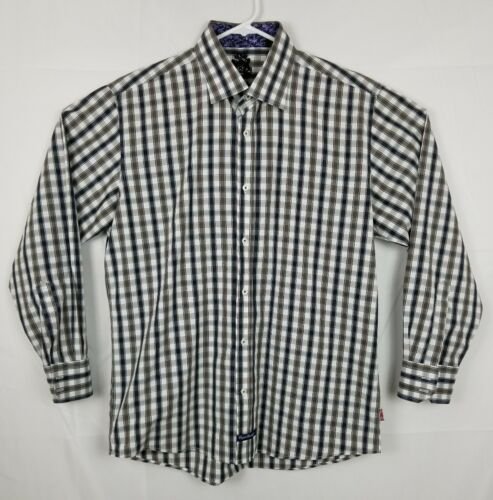 Wicks Christopher a bordada Camisa cuadros inglesa 35 17 talla talla 34 twI1qtA